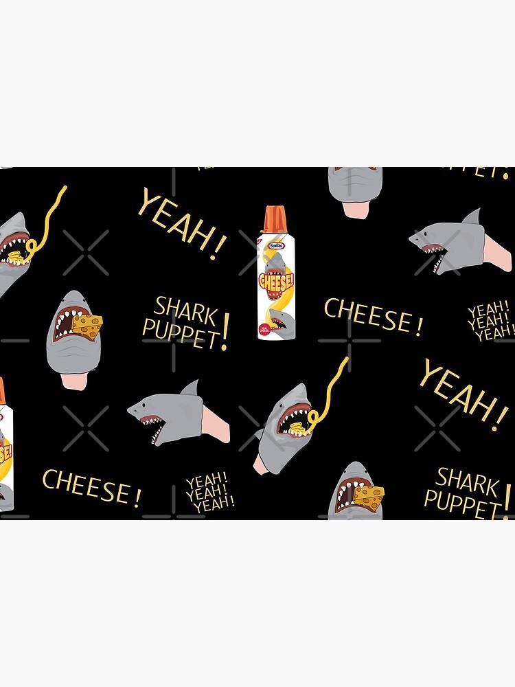 TikTok on Repeat: Shark Puppet [YEAH!] Seamless Pattern by StinkPad