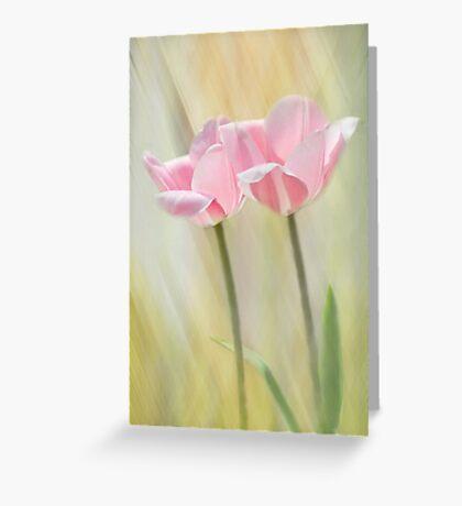 Twin Pinks Greeting Card