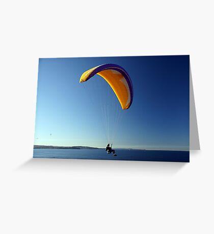 Paraglider Greeting Card