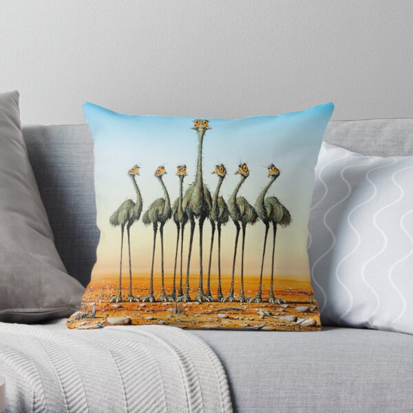A Longneck & Six Stubbies Throw Pillow