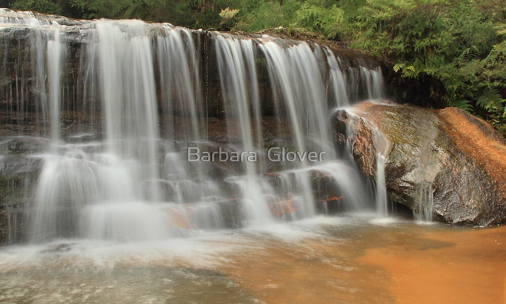 Blue Mountains Water Fall. by Barbara  Glover