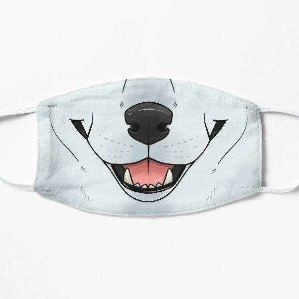 Loup blanc Masque sans plis