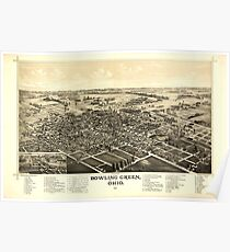 Panoramic Maps Bowling Green Ohio 1888 Poster