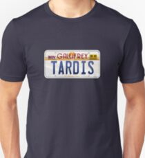 TARDIS License Plate Unisex T-Shirt