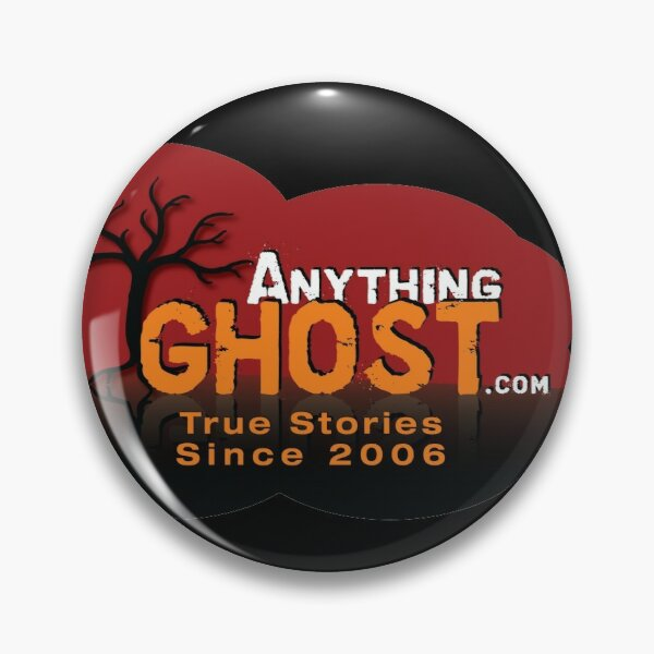 Anything Ghost Podcast Red Tree Logo (for buttons) Pin