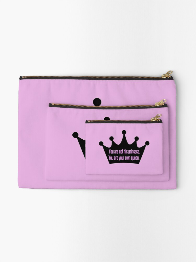 Alternate view of You're a Queen Quote Zipper Pouch