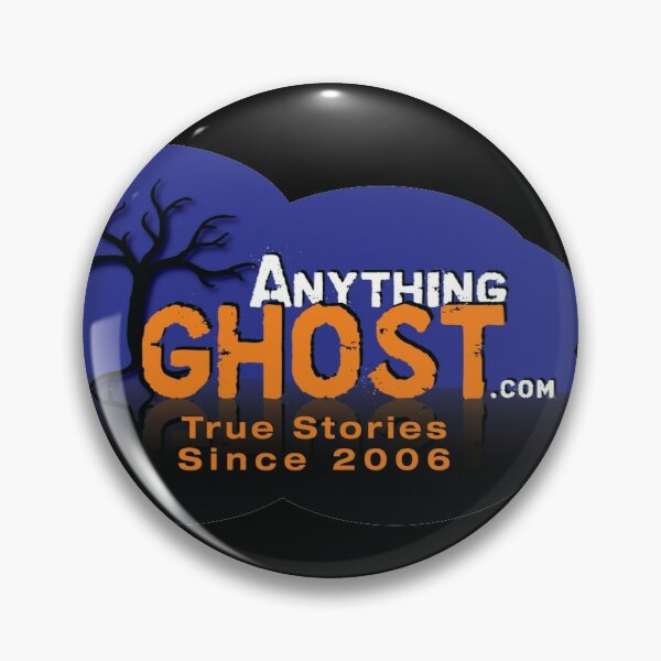 Anything Ghost Podcast Blue Tree Logo (for buttons) Pin