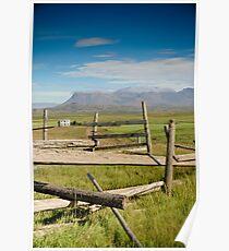 Crazy views of Iceland,  Farm. Poster