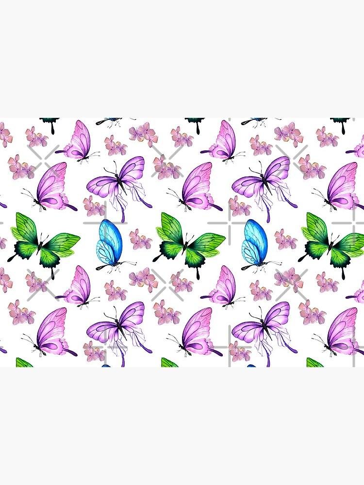 Butterflies and Flowers by SherDigiScraps
