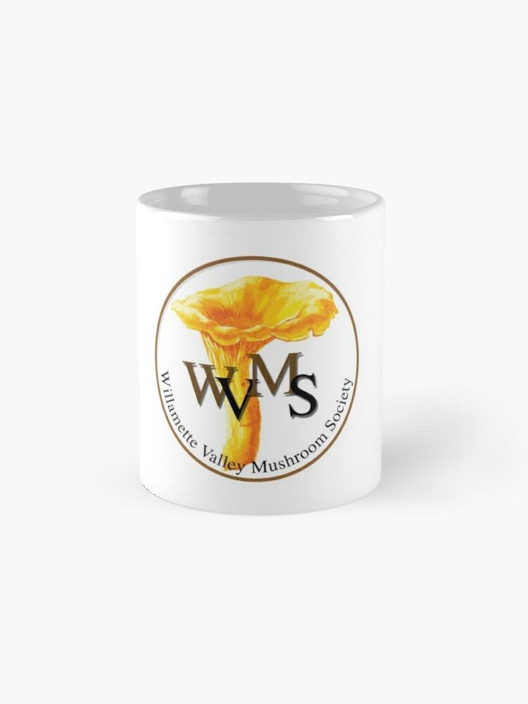 Alternate view of Willamette Valley Mushroom Society Mug