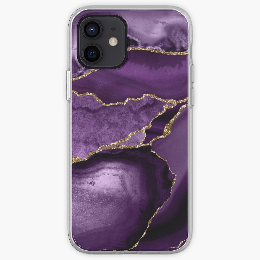 Purple Marble Abstract Landscapes iPhone Case & Cover