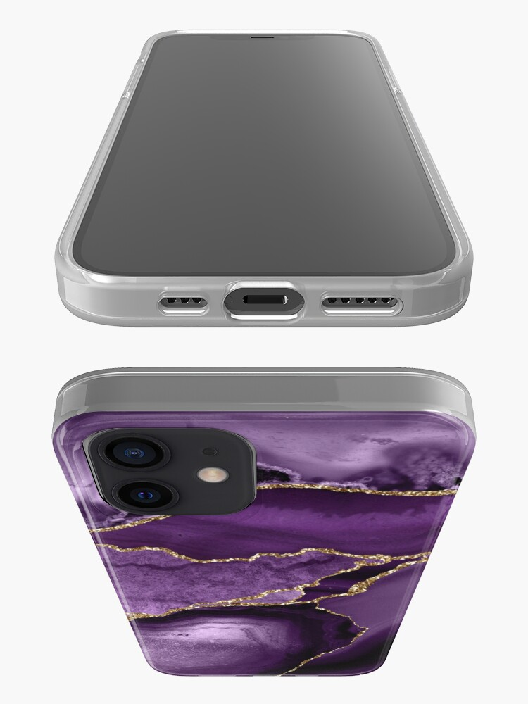 Alternate view of Purple Marble Abstract Landscapes iPhone Case & Cover