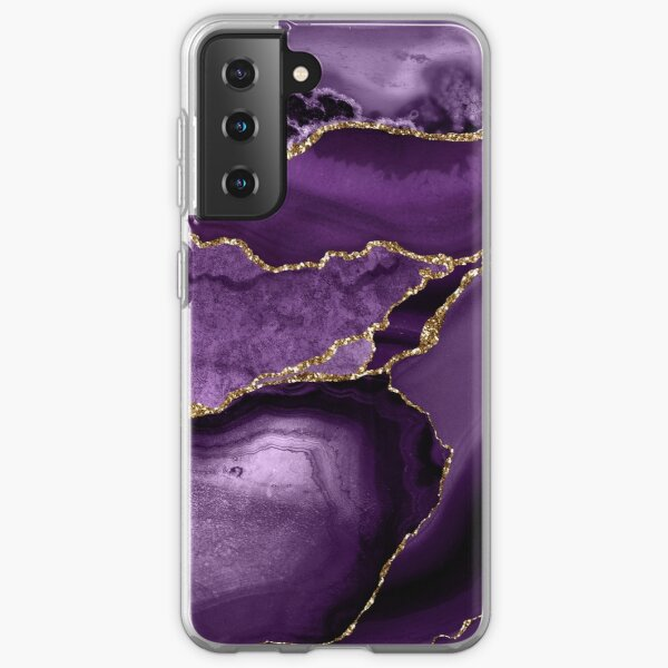 Purple Marble Abstract Landscapes Samsung Galaxy Soft Case