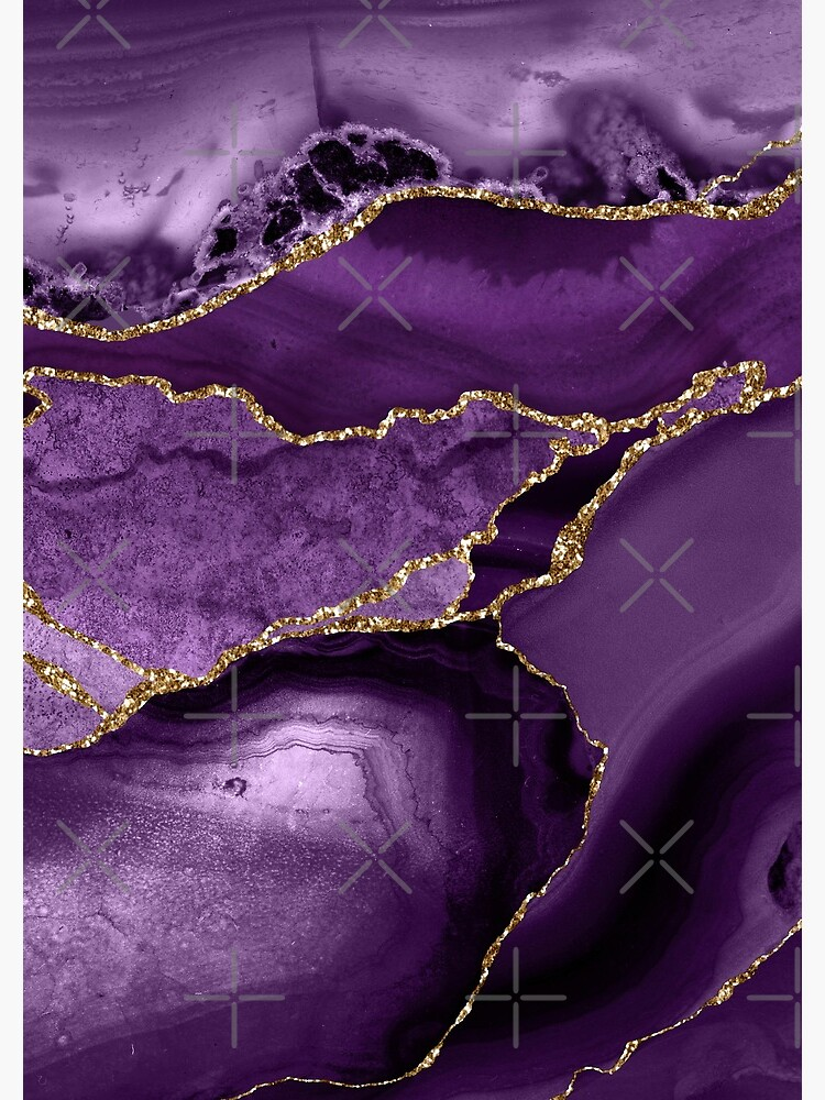 Purple Marble Abstract Landscapes by MysticMarble