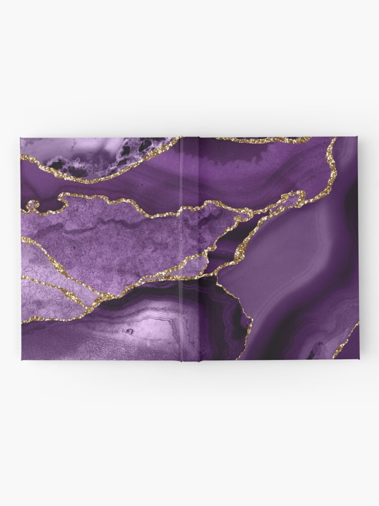 Alternate view of Purple Marble Abstract Landscapes Hardcover Journal