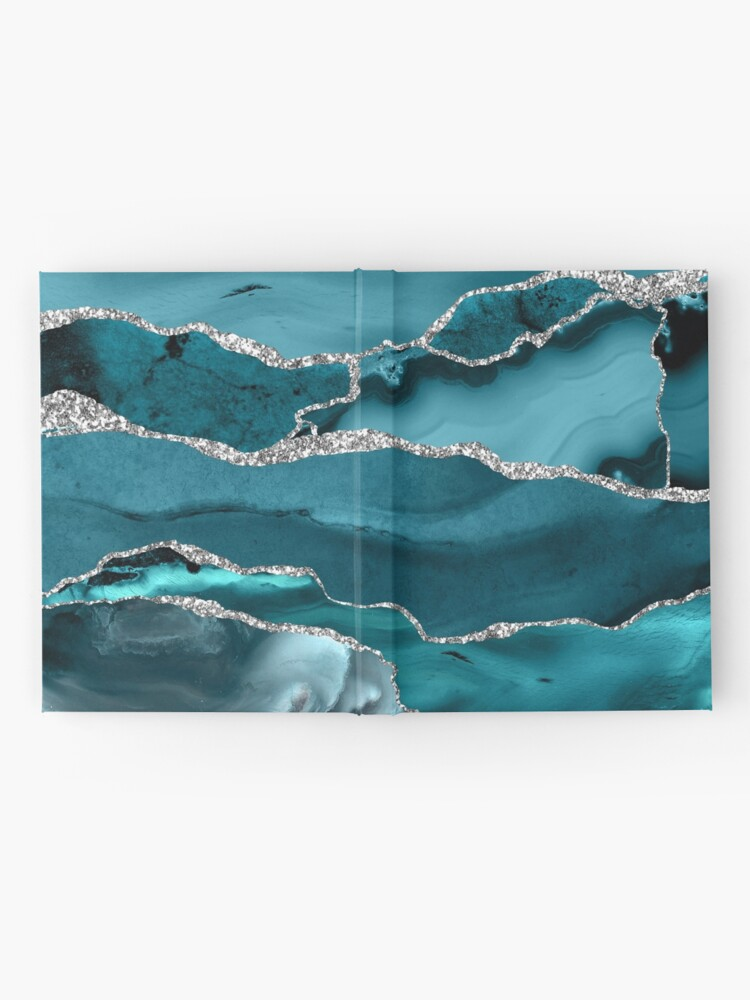 Alternate view of Trend Turquoise Marble Textures  Hardcover Journal