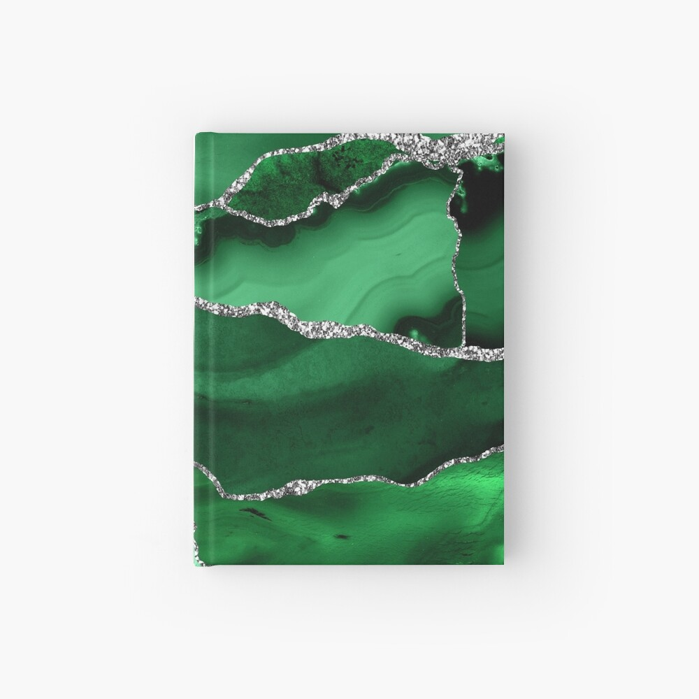 Emerald Malachite Marble Landscapes Hardcover Journal