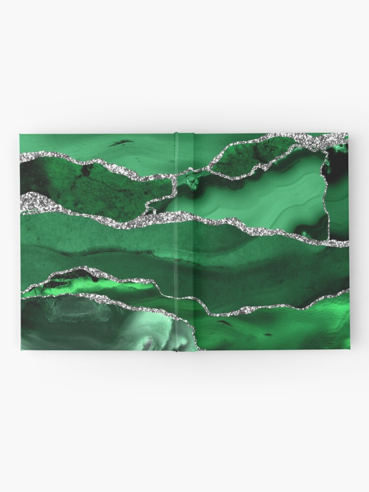 Alternate view of Emerald Malachite Marble Landscapes Hardcover Journal