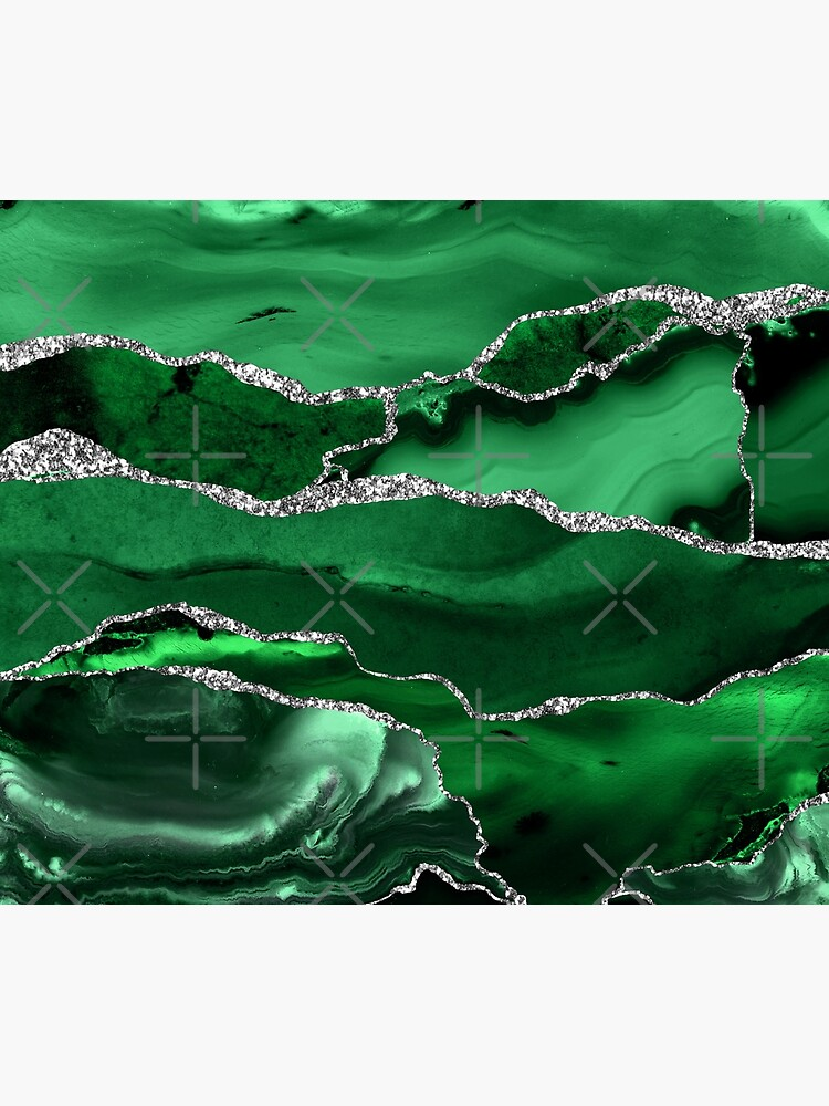 Emerald Malachite Marble Landscapes by MysticMarble