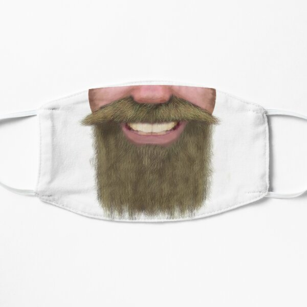 Full Beard Facial Hair Male Novelty Face Mask Flat Mask