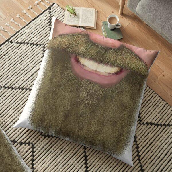 Full Beard Facial Hair Male Novelty Face Mask Floor Pillow