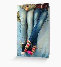 Lesbians And Colourful Socks Greeting Card