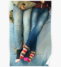 Lesbians And Colourful Socks Poster