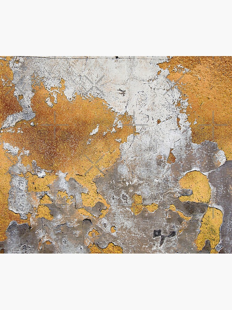 Metalfoil Gold Glamour on Gray Concrete Wall by MysticMarble