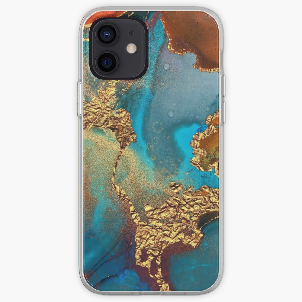 glamorous gold ink autumn texture iPhone Case & Cover