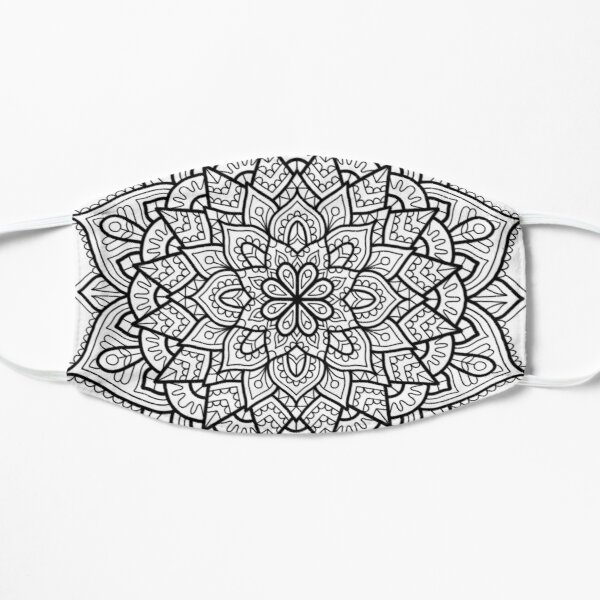 Adult Coloring Page Face Masks Redbubble