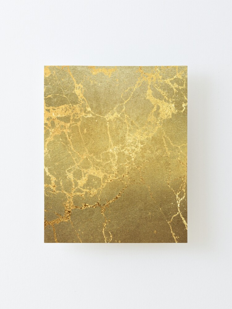 Alternate view of Gold Marble Texture with Gold Veins Mounted Print