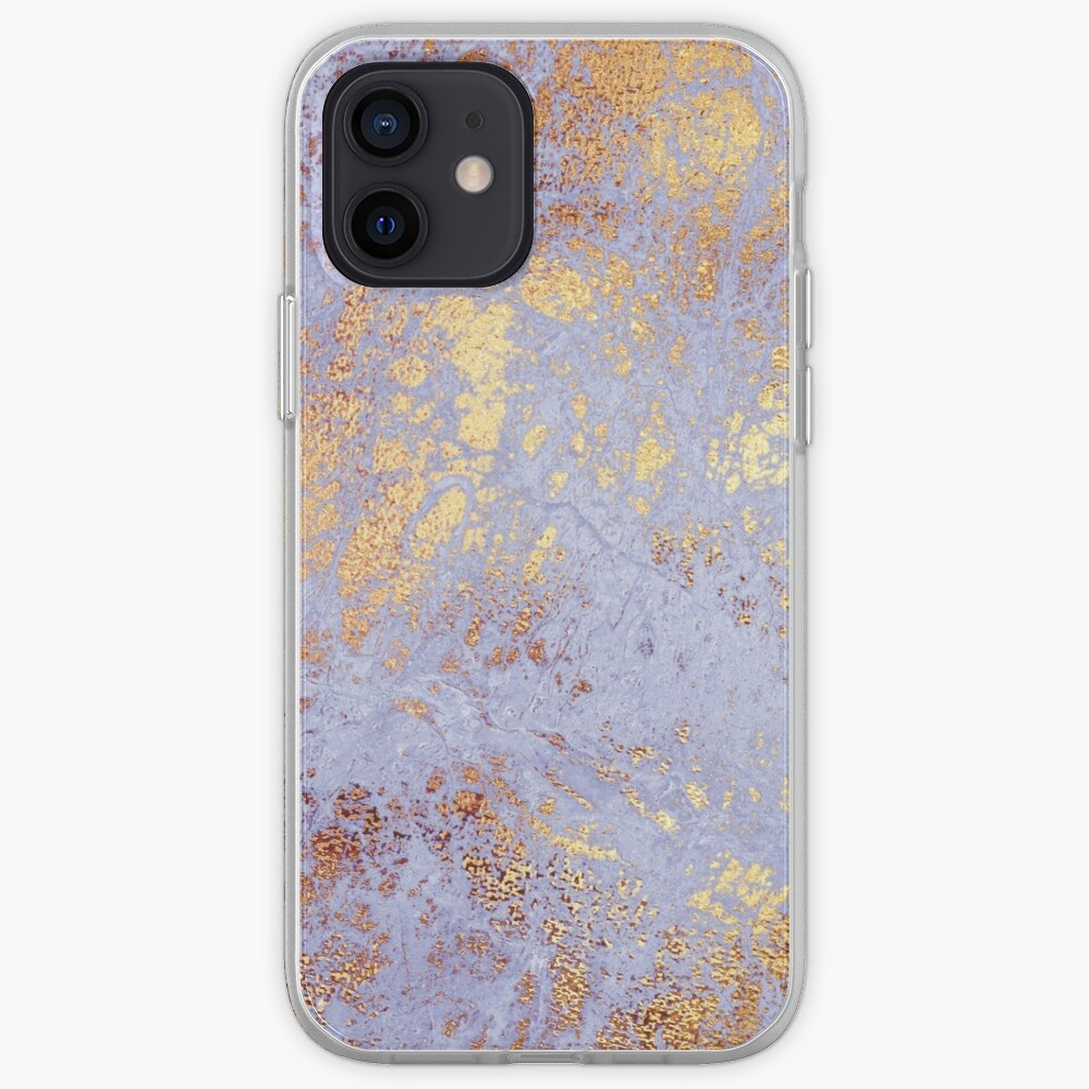 Purple Marble with Gold Veins  iPhone Case & Cover