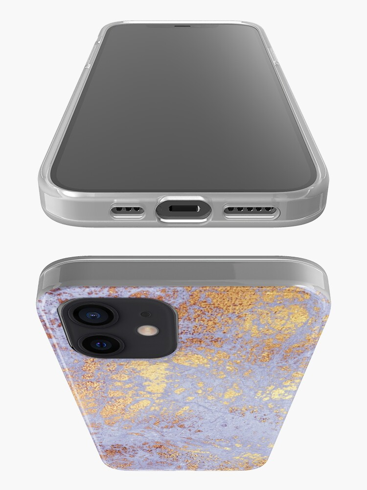 Alternate view of Purple Marble with Gold Veins  iPhone Case & Cover
