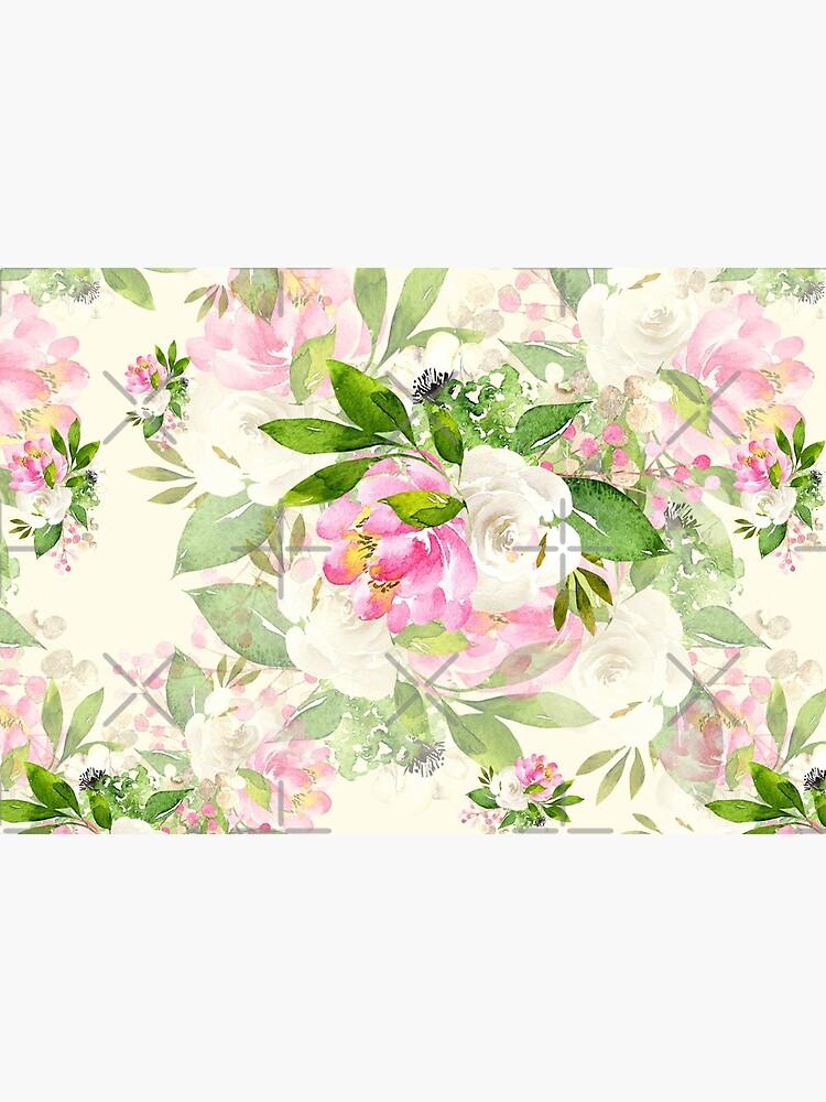 Pink and White Flowers by SherDigiScraps