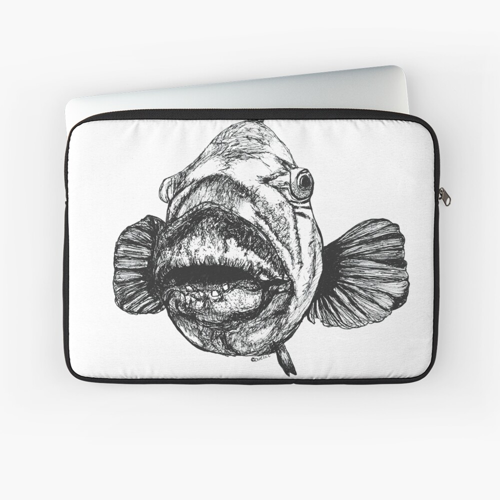 Barry the Blue Groper Laptop Sleeve