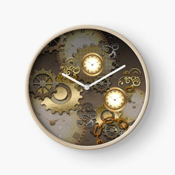 Steampunk, horloges et engrenages Horloge