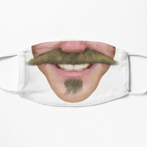 Handlebar Moustache Facial Hair Male Novelty Face Mask Flat Mask