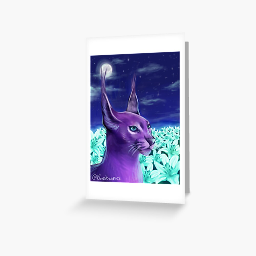 Moon Lily  Greeting Card