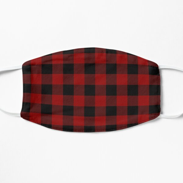 Buffalo Plaid - Black and Red Mask