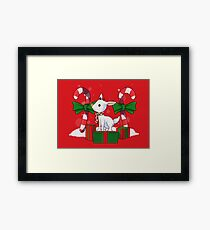 Red-nosed reindeer Framed Print