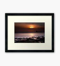 Saltwick Bay in the morning Framed Print