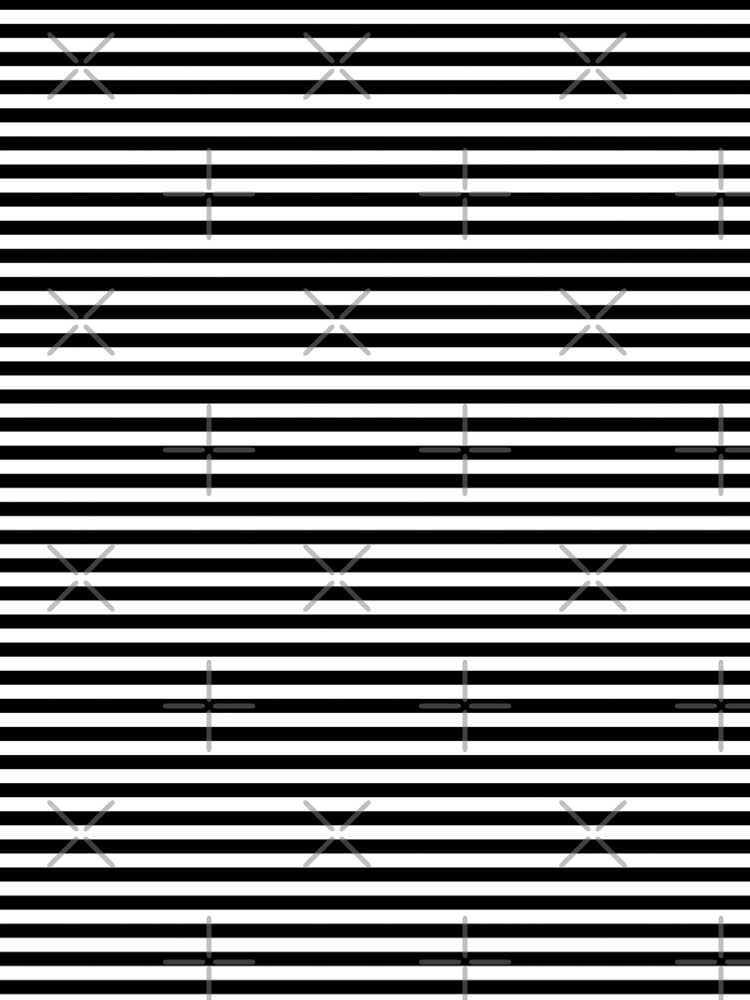 Black and White Horizontal Stripes by coverinlove
