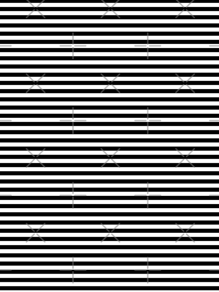 Black and White Horizontal Stripes by coverinlove