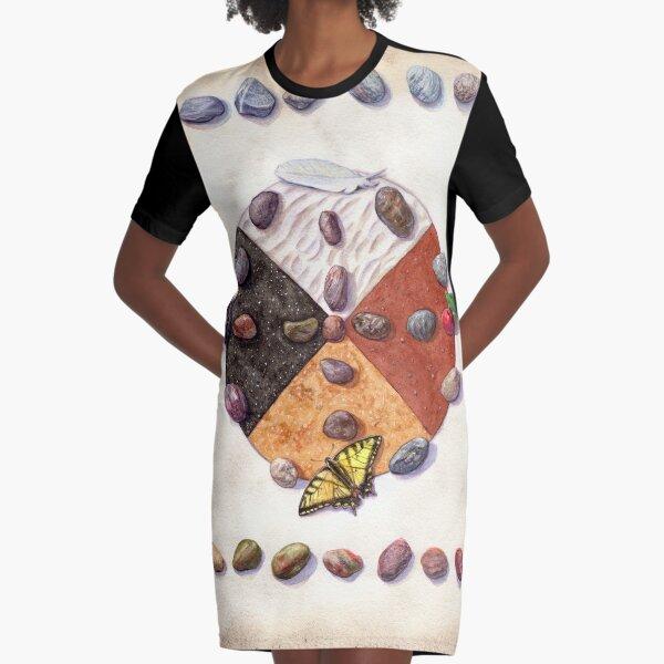 Canada- Card 4 - Medicine Wheel Graphic T-Shirt Dress