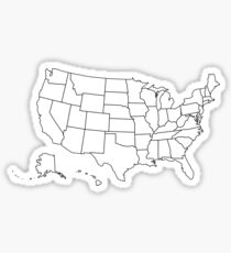 United States map Sticker