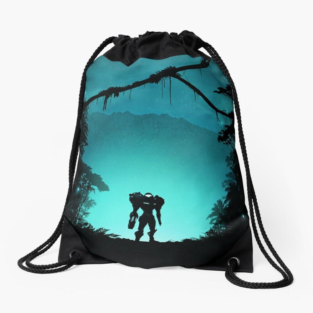 Metroid Drawstring Bag