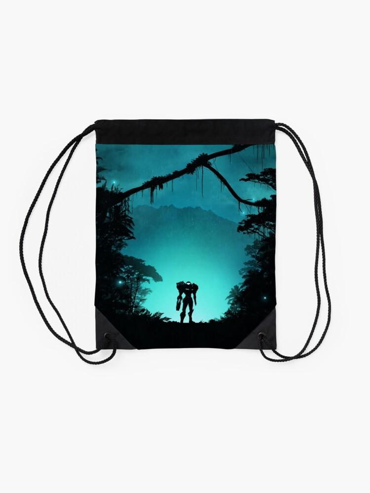 Alternate view of Metroid Drawstring Bag