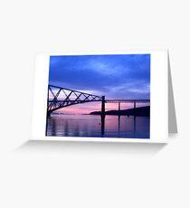 South Cantilever at Dawn:  The Rail Bridge. Greeting Card