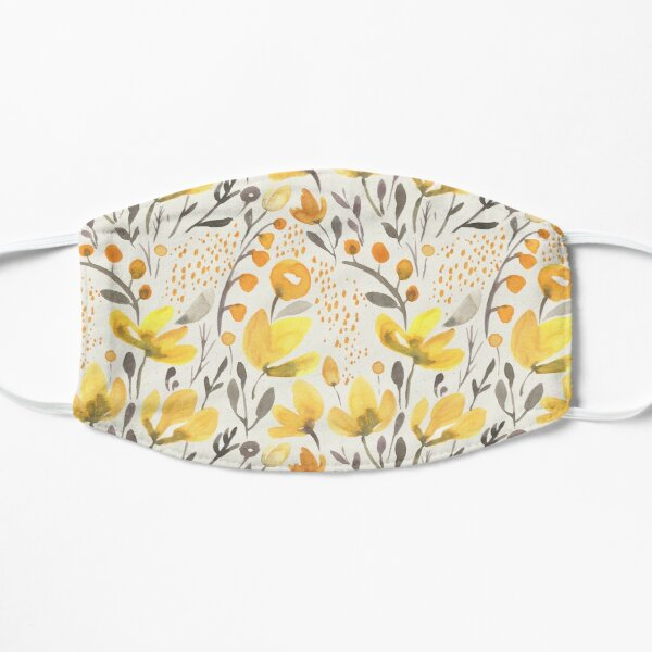 Yellow field Flat Mask