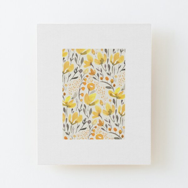 Yellow field Wood Mounted Print